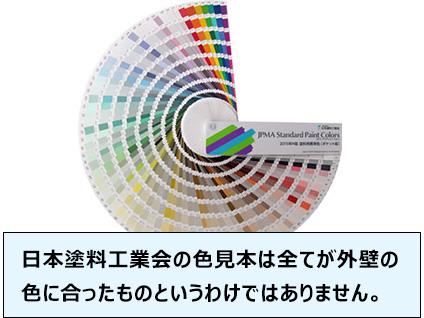 日本塗料工業会の色見本は全てが外壁の色に合ったものというわけではありません。