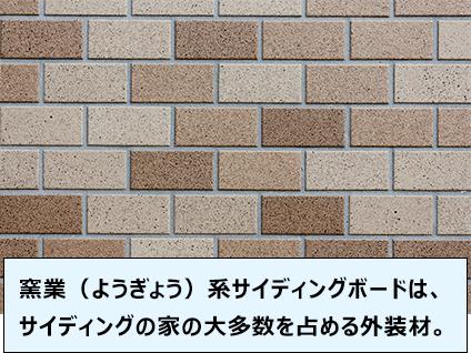 窯業(ようぎょう)系サイディングボードは、サイディングの家の大多数を占める外装材。