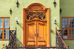 玄関ドア塗装画像