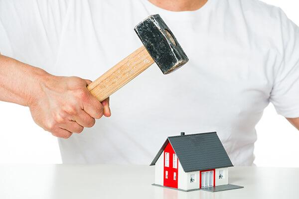 家の者を破壊する業者