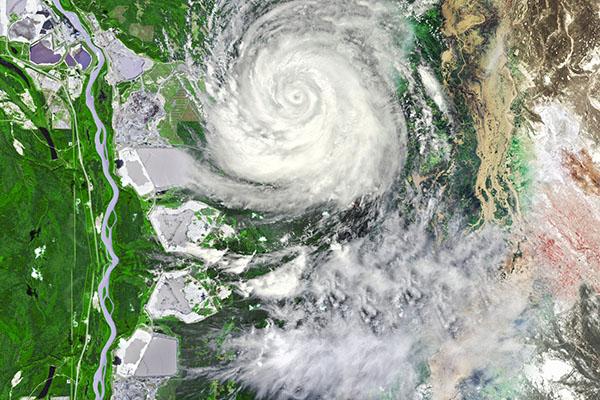 台風による外壁塗装工事の延期
